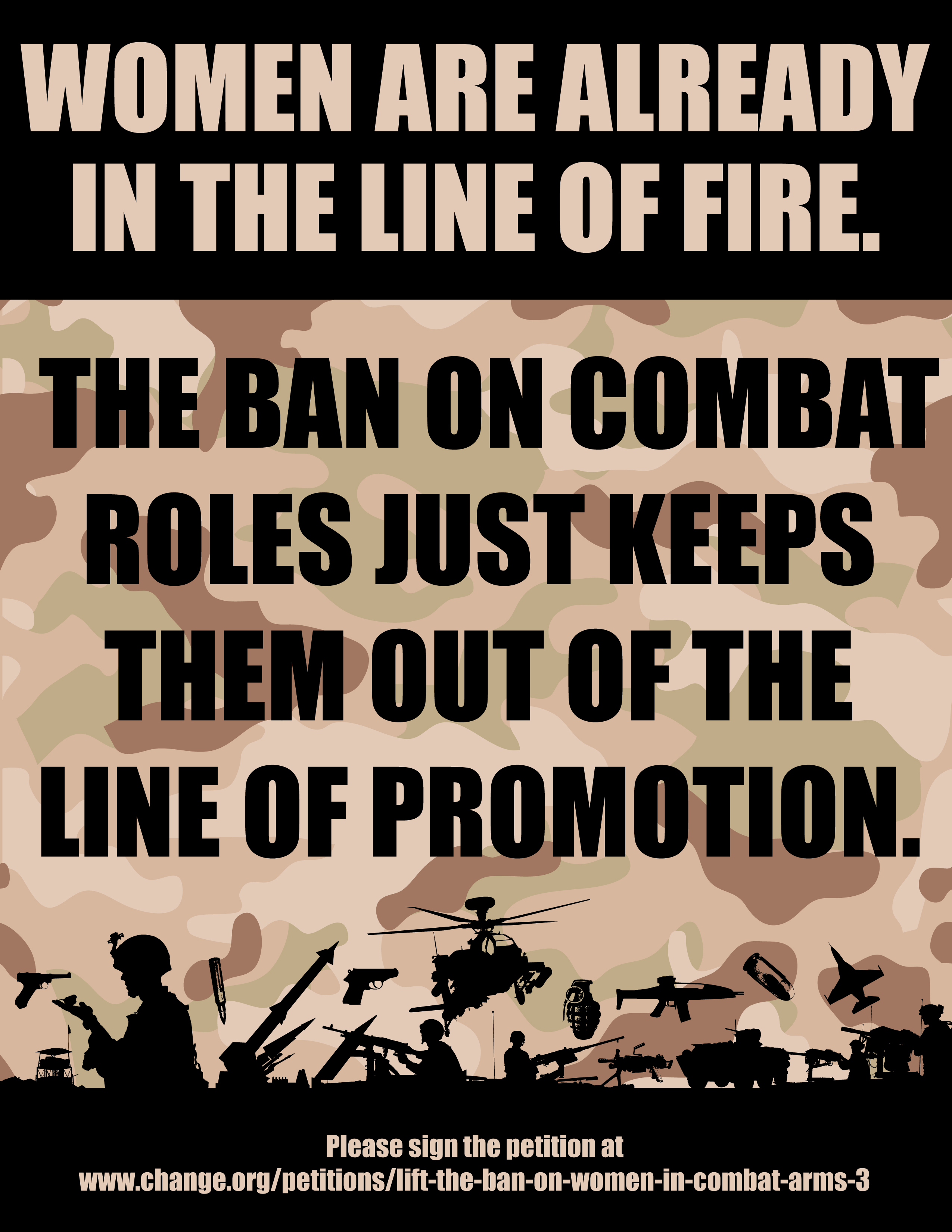should females in the military be Looking for a great career or know another veteran, service member, or military spouse who is get started at hirepurpose in january 2017, the first female marines graduated from infantry school .