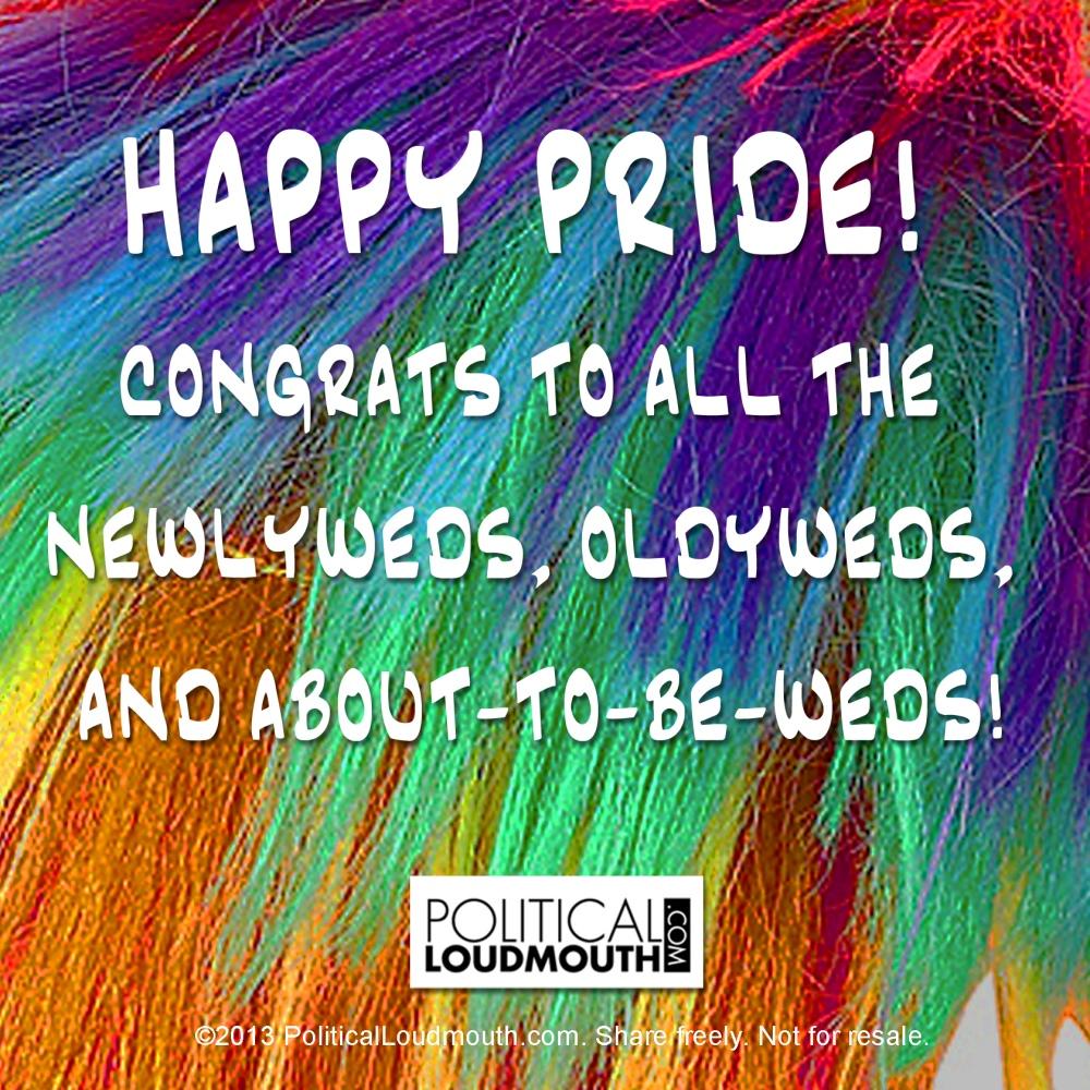 Pride 2013 Newlyweds